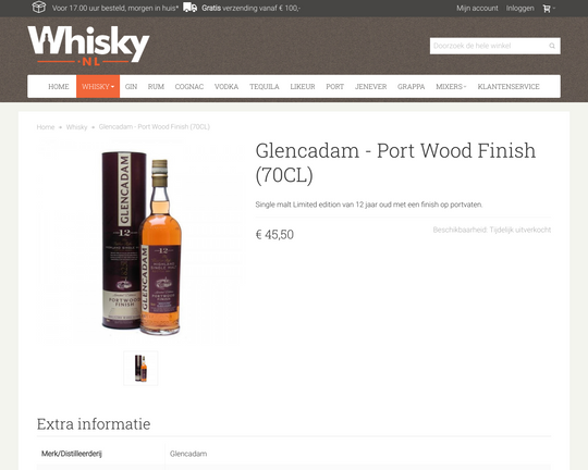 Glencadam Port finish